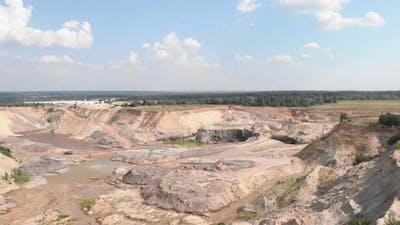 Huge open quarry.
