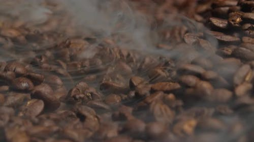 Smoke Comes From Coffee Beans