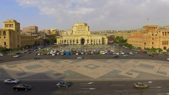 Thumbnail for Amazing Shot of National Gallery of Armenia Located on Republic Square, Yerevan