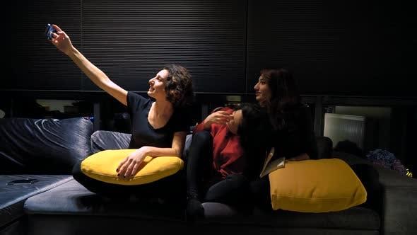 Thumbnail for Friends Girls Taking Selfie