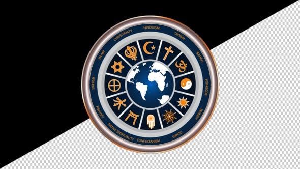 Circle Of Religious Symbols