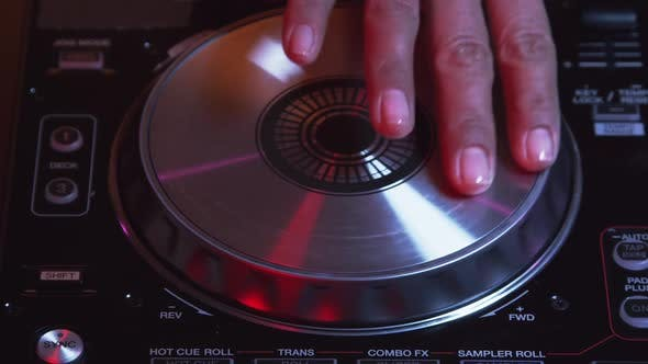 Thumbnail for DJ Hand Mixing And Scratching Turntable 09
