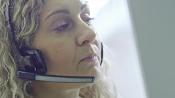 Thumbnail for Female Operator of Call Centre Talking