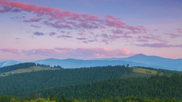 Cover Image for Evening over the Ukrainian Carpathians