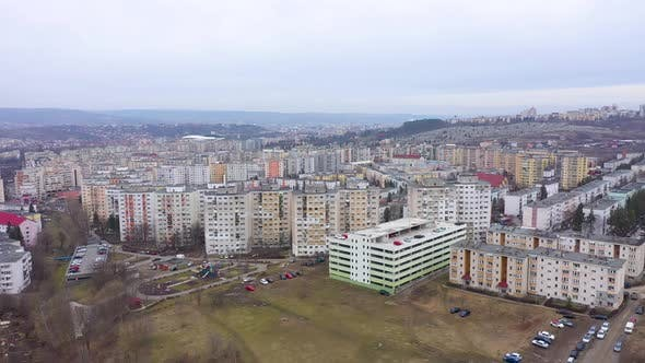 Thumbnail for Flying Over a Communist Residential Area, Flat of Blocks, Cluj Napoca, Romania