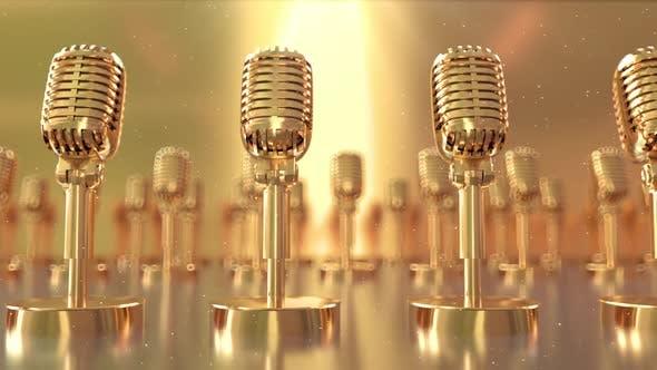 Golden Retro Microphones