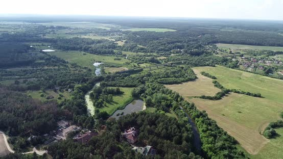 Thumbnail for Aerial View of the Village in the Landscape, Ukraine