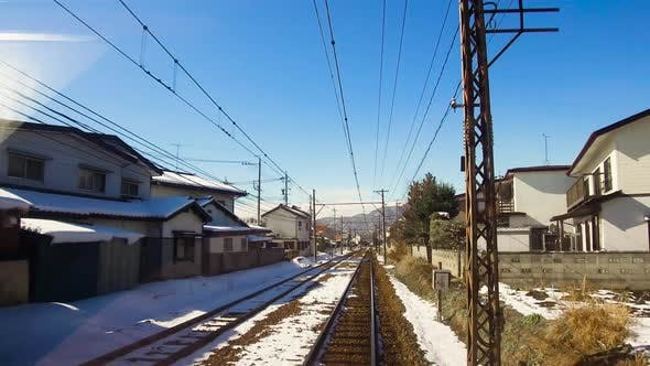 Thumbnail for View To Suburb From Train or Railway in Japan 24