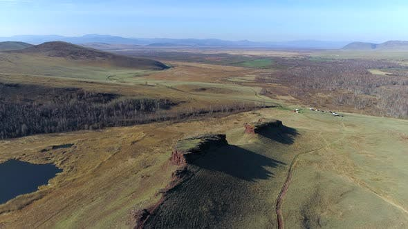 Thumbnail for Flight Over Mountain With Birds In Khakassia