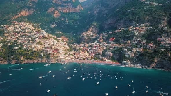 Thumbnail for Positano, Amalfi Coast Grand Aerial Video