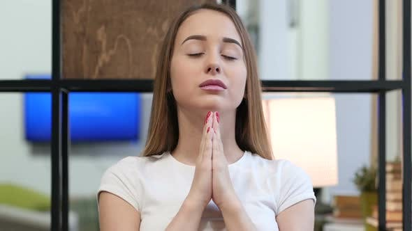 Thumbnail for Praying to God, Young Girl