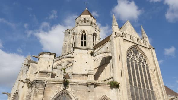 Thumbnail for Beautiful Mairie St Etienne le Vieux  structure in the center of the city of Caen 4K 2160p 30fps UHD