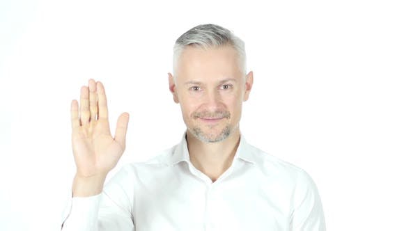Thumbnail for Middle Aged Businessman Waving Hand, Saying Hello
