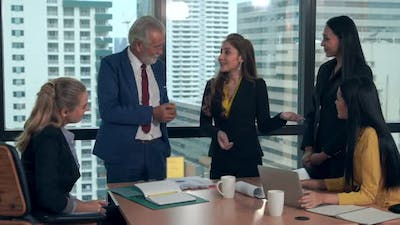 Business People Working with Desktop Computer in Office