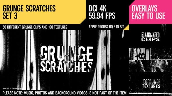Thumbnail for Grunge Scratches (4K Set 3)