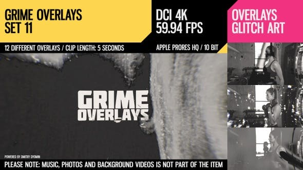 Thumbnail for Grime Overlays (4K Set 11)