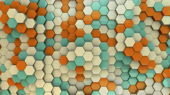 Thumbnail for Hexagon Background Vintage - 4K