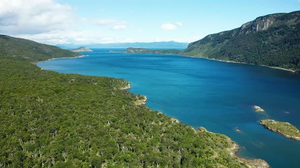 Thumbnail for Tierra Del Fuego National Park, Aerial View of Bay Lapataia. Ushuaia, Argentina