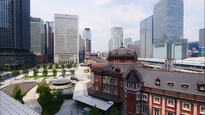 Building architecture around Tokyo station in Tokyo city Japan
