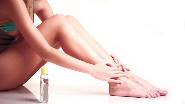 Thumbnail for Girl Make Self Massaging Oiled