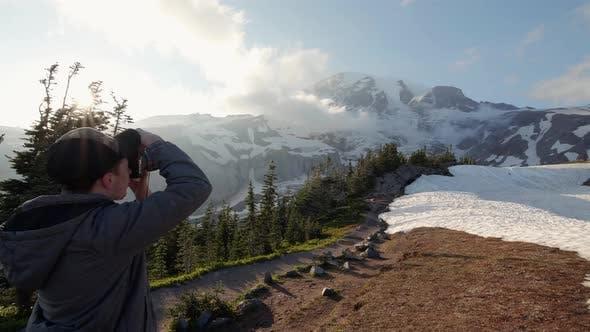 Thumbnail for Gimbal Shot Of Nature Landscape Photography At Mt Rainier