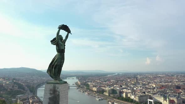 On The Top Of The Gellért Hill In Budapest