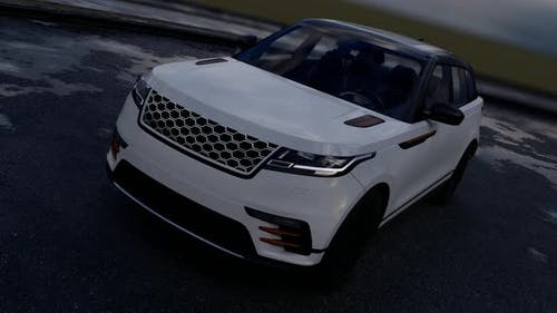 White Luxury SUV