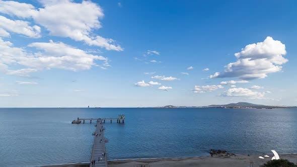 Thumbnail for Big Bridge In Sea In Burgas, Bulgaria
