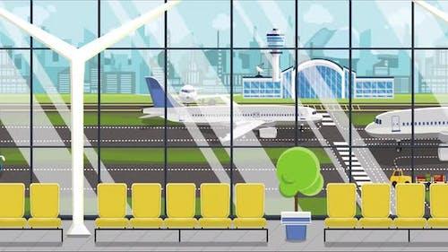 Generic Cartoon Airport