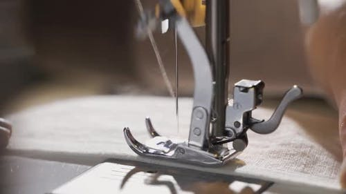 Sewing Machine Needle in Motion