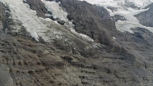 Close Up of Eiger Glacier in the Bernese Alps