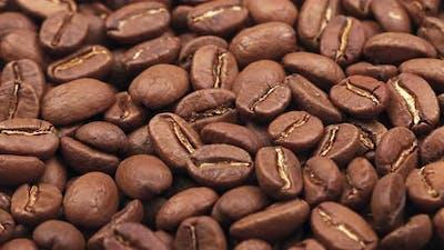 Roasted Arabica coffee beans background