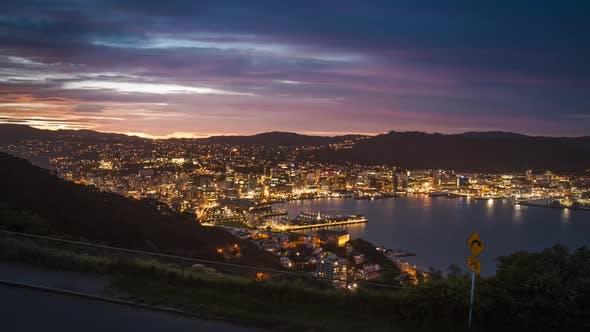 Thumbnail for Wellington nightfall timelapse