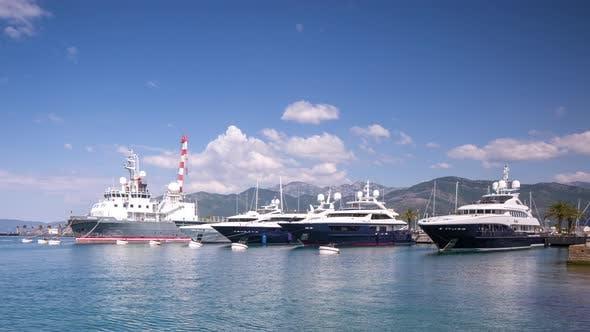 Thumbnail for porto montenegro chic yachts boat harbour adriatic development