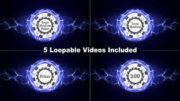 Thumbnail for 5 Loopable Poker Chips