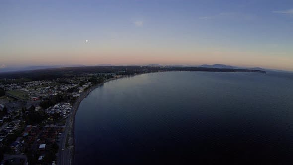 Thumbnail for Evening Aerial Over Popular Washington Travel Destination Birch Bay