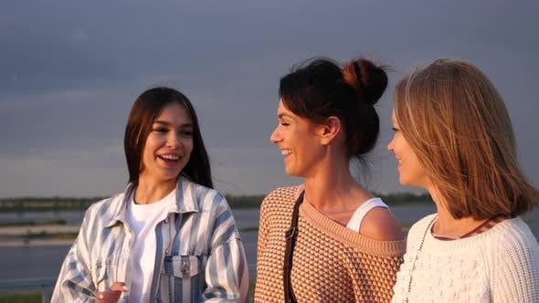 Thumbnail for Group of Beautiful Girls Taking a Walk