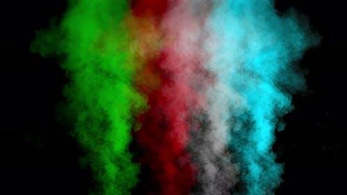 Mehrfarbiger Rauch