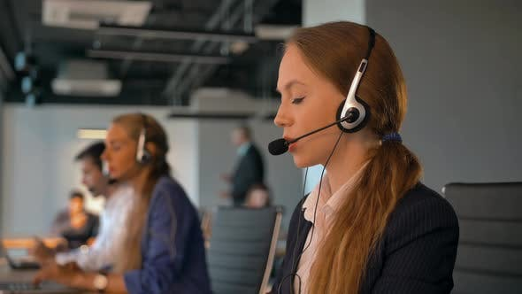 Call Center Employees Working in Deal Office