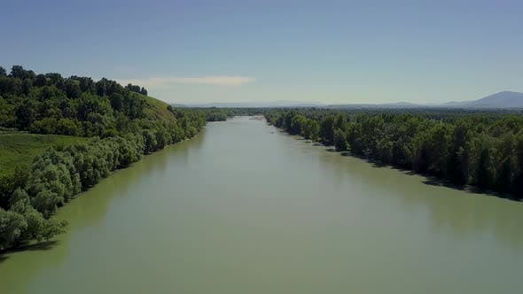 Thumbnail for Aerial Flying Over the Mountain River