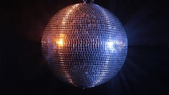 Thumbnail for Disco Mirror Ball Reflect Blue and Red Light