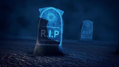 Rest In Piece Tombstones Cemetery 4k
