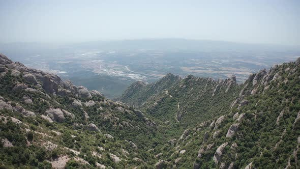 Thumbnail for Aerial View of Mountain Ranges with Gorge Between