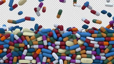 Pills Screen Overlay and Transition