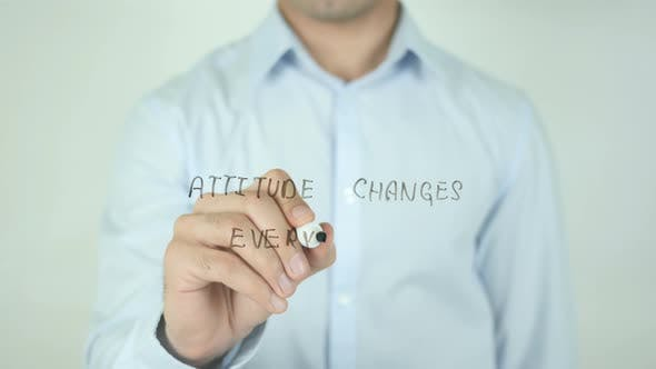 Thumbnail for Attitude Changes Everything, Writing On Screen