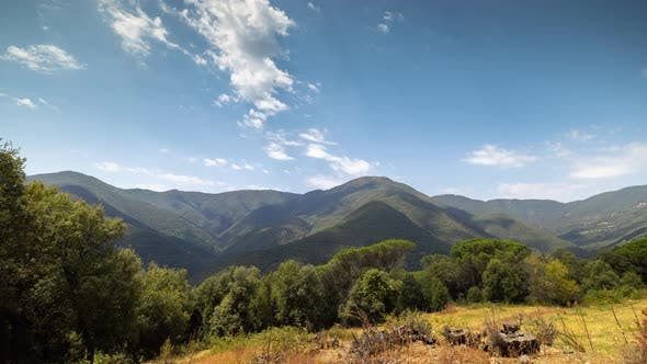 Loopable Timelapse of Clouds Passing Over Montseny