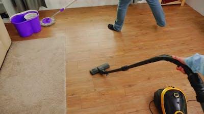 Vacuuming the Apartment