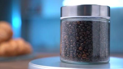 Coffee Grains In A Jar