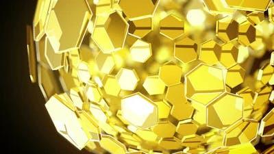 Globe Gold Background