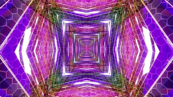 Thumbnail for 4k Cyberpunk Hi-Tech Tunnel 3